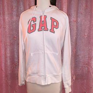 GAP White and Pink Hoodie